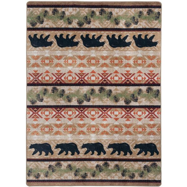 Cabana Bears Natural Area Rug by Loon Peak