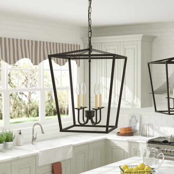 Sennett 4-Light Foyer Pendant by Gracie Oaks