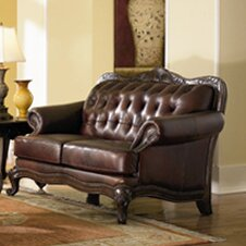 Modern Smith Leather Loveseat by Darby Home Co by Darby Home Co