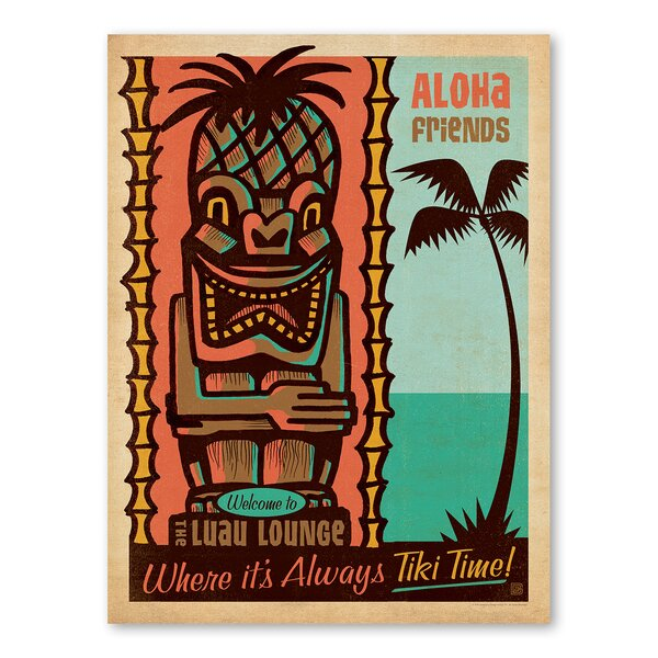 Tiki Time Vintage Advertisement by East Urban Home