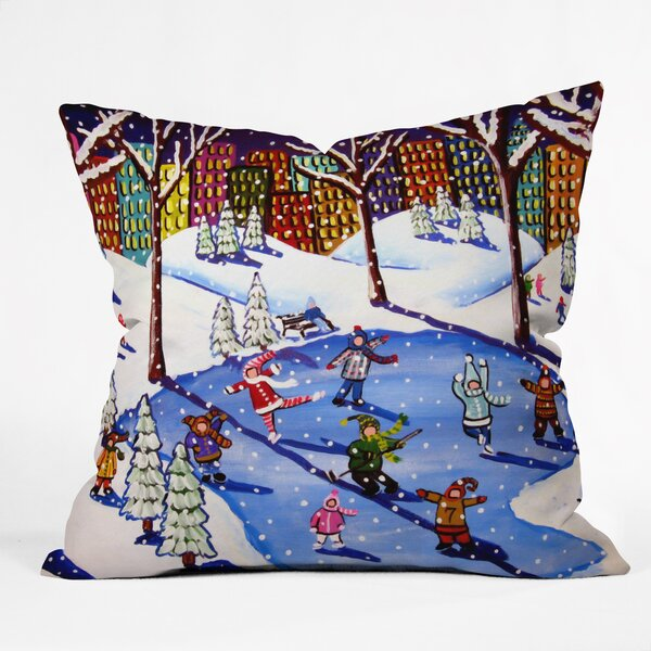 Renie Britenbucher Winter Fun In The City Throw Pillow by Deny Designs