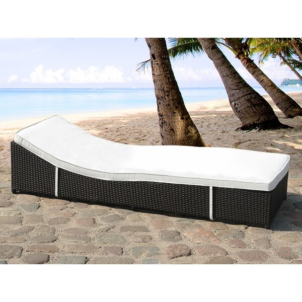Garden Sun Lounger with Cushion by Home & Haus