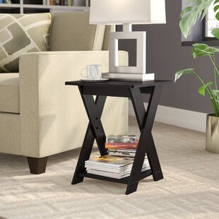 Artesian Modern Simplistic Criss-Crossed End Table Ebern Designs