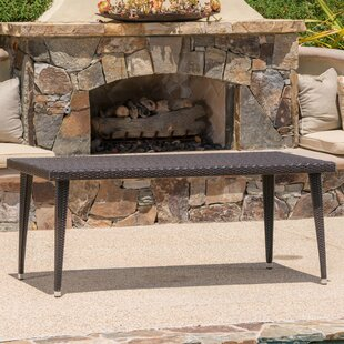 Best Choices Malta Long Outdoor Wicker Dining Table ByLongshore Tides