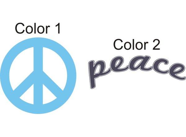 Peace Sign Wall Decal by Alphabet Garden Designs