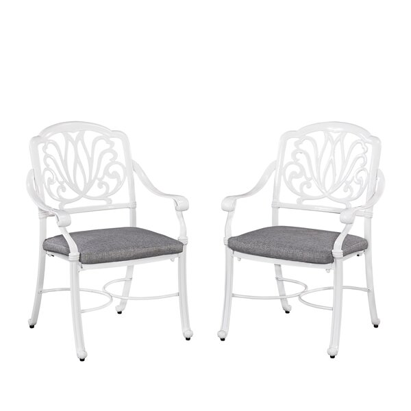 Floral Blossom Patio Dining Chair with Cushion (Set of 2) by Home Styles