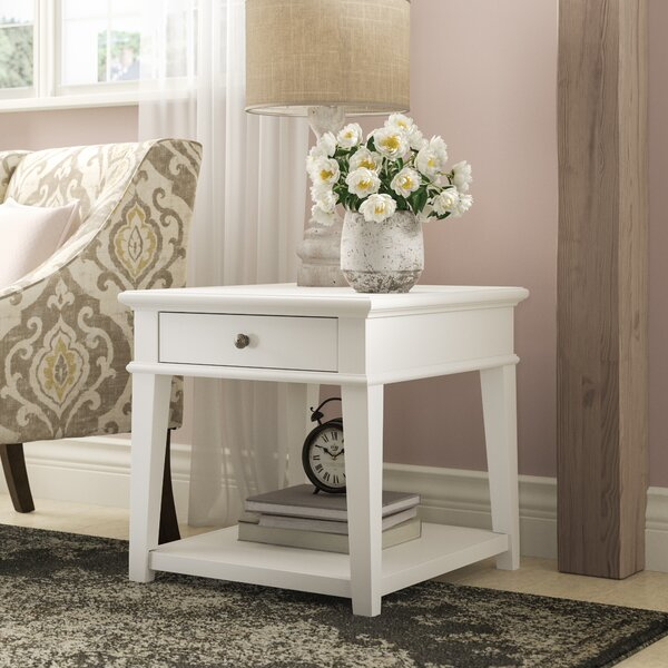 Saguenay End Table with Storage by Lark Manor