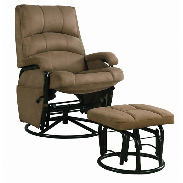 Veasna Manual Glider Recliner with Ottoman W002978832