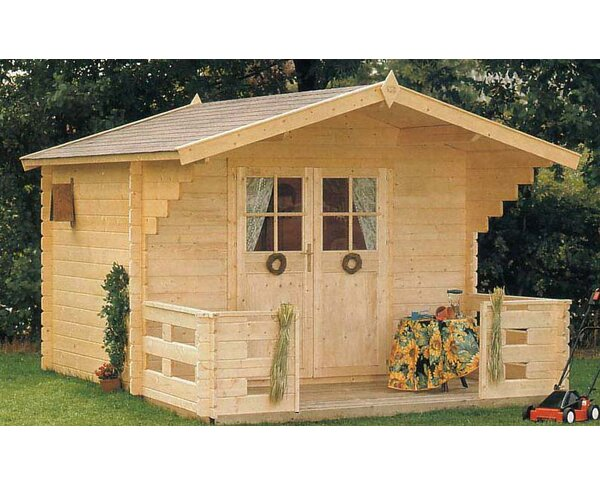 Douglas 9 ft. 9 in. W x 8 ft. 2 in. D Wooden Storage Shed by SolidBuild