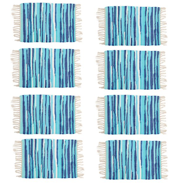 Anh Stripe 13 Placemat (Set of 8) by Highland Dunes