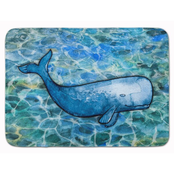 Ocean Animals Whale out of the Sea Level Non-slip Soft Bathroom Rugs Carpet Mat