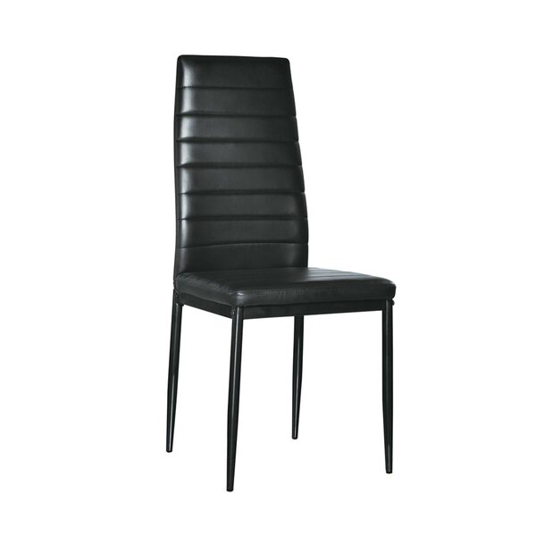 Frink Elegant Stripping Texture High Backrest 4 Piece Dining Chair Set (Set of 4) by Orren Ellis