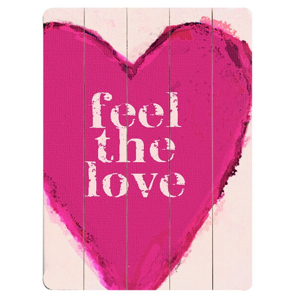 Feel The Love Graphic Art Print Multi-Piece Image on Wood by Artehouse LLC