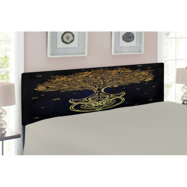 Tree of Life Queen Upholstered Panel Headboard by East Urban Home East Urban Home