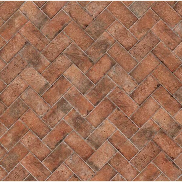 Chicago Brick 4 x 8 Porcelain Mosaic Tile in Wrigley by Tesoro