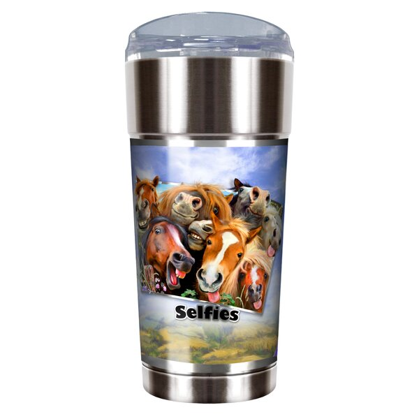 Horse Selfies 24 oz. Stainless Steel Travel Tumbler by Great American Products