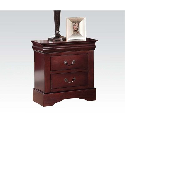 Streetman 2 - Drawer Nightstand in Cherry by Canora Grey Canora Grey