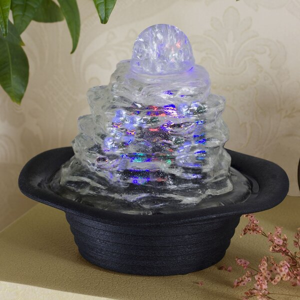 Cascade Resin Fountain with LED Light by OK Lighting