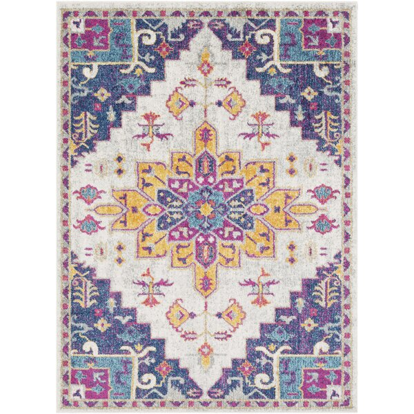 Almonte Pink/Dark Blue Area Rug by Bungalow Rose