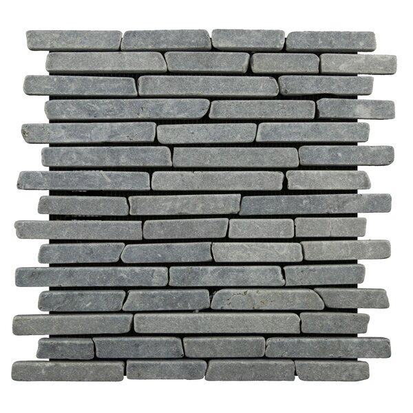Natural Stone Sticks Random Sized Mosaic Tile Tile in Grey by Pebble Tile