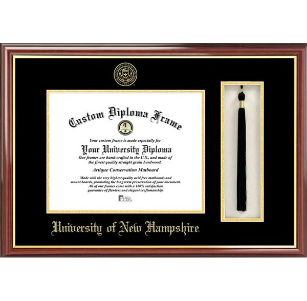 NCAA University of New Hampshire Tassel Box and Diploma Picture Frame by Campus Images