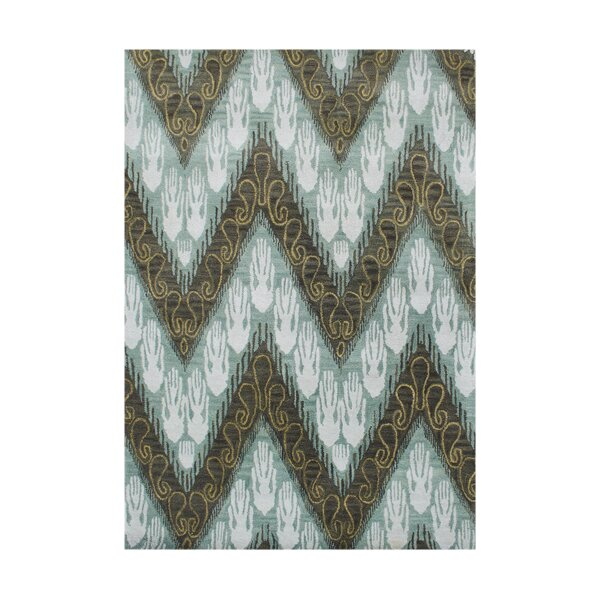 New Zealand Handmade Forest Green Area Rug by Alliyah Rugs