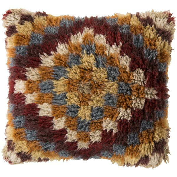 Andreas of Diamond Wool Throw Pillow by Union Rustic