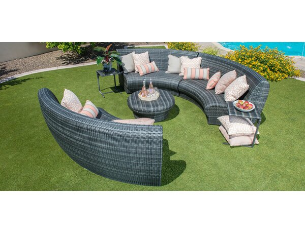 Canaveral Genie 5 Piece Sectional Seating Group by Woodard
