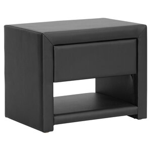 Baxton Studio Massey Nightstand in Black by Wholesale Interiors