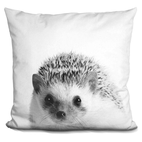 Holeman Hedgehog Throw Pillow by Wrought Studio