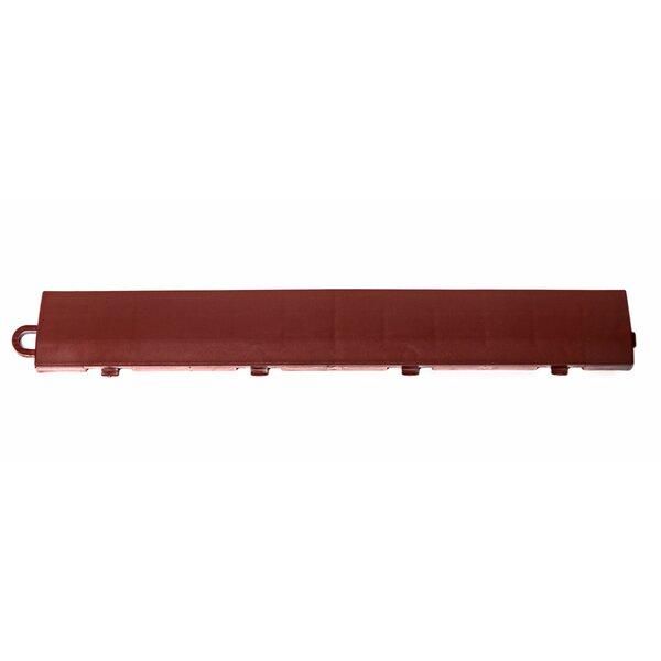 12 x 1.75 Plastic Interlocking Deck Edge Trim in Brick Red by DuraGrid