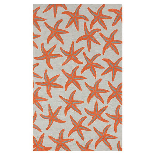 Solana Hand-Woven Orange Indoor/Outdoor Area Rug by Beachcrest Home