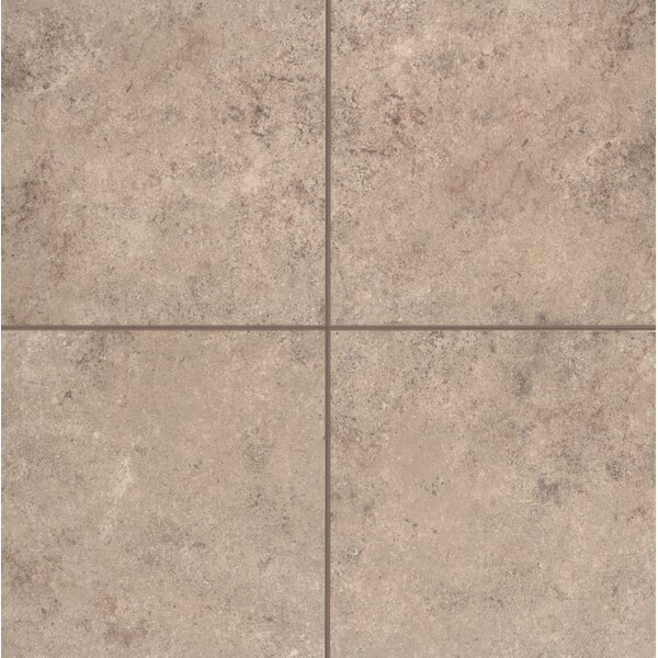 Pensdale Glazed 18 x 18 Porcelain Field Tile in Brown Shell by Mohawk Flooring