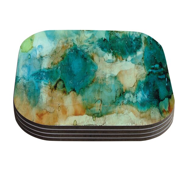 Waterfall by Rosie Coaster (Set of 4) by KESS InHouse