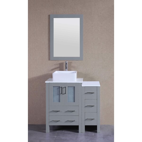 Nova 36 Single Bathroom Vanity Set with Mirror by Bosconi
