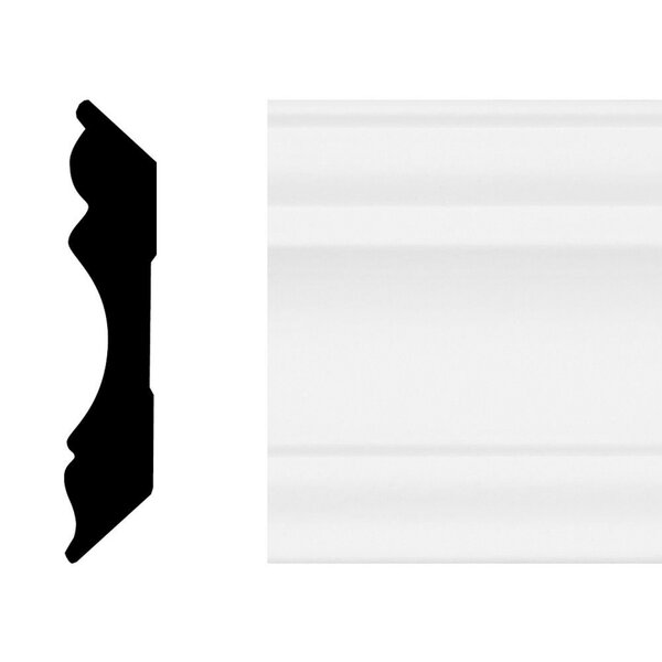 5/8 in. x 3-1/8 in. x 8 ft. Primed White MDF Colonial Crown Moulding by Manor House