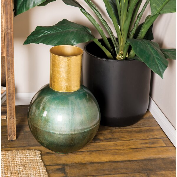 Abron Modern Iron Round Table Vase by Mercer41