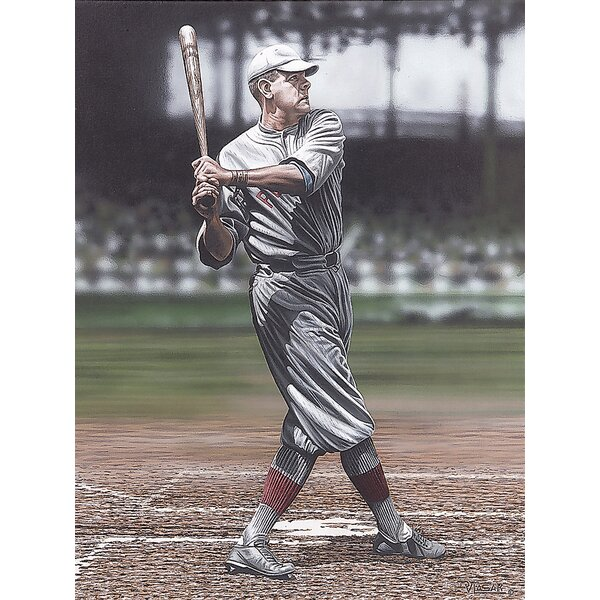 Babe Ruth as a Red Sox Artwork by Darryl Vlasak Photographic Print on Wrapped Canvas by Buy Art For Less