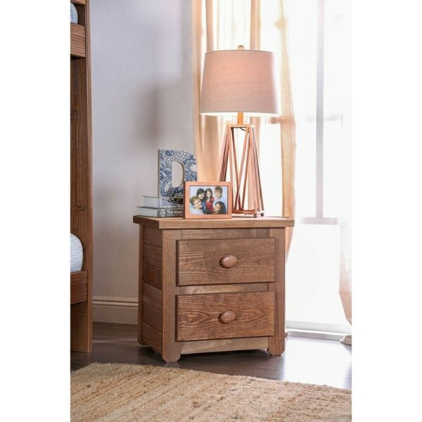 Boring 2 Drawer Nightstand by Harriet Bee