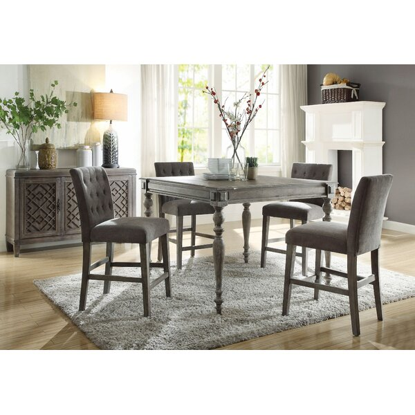 Fabiola 5 Pieces Pub Table Set by Ophelia & Co.