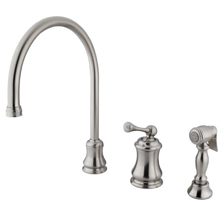Single Handle Kitchen Faucet with Side Spray by Elements of Design
