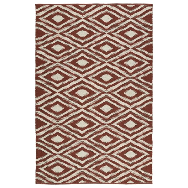 Greenfield Brick/Cream Indoor/Outdoor Area Rug by Loon Peak