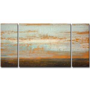 Desert Flats 3 Piece Painting Print Set on Wrapped Canvas by Mercury Row