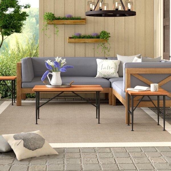 Cabarley Outdoor Wood 3 Piece Coffee Table Set by Gracie Oaks Gracie Oaks