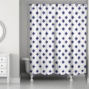 swiss cross curtains | wayfair