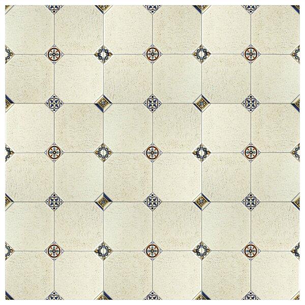 Turia 13.12 x 13.12 Ceramic Field Tile in Cream by EliteTile