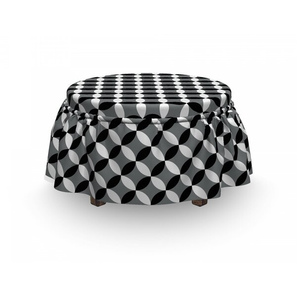 Geometric Circle Ottoman Slipcover (Set Of 2) By East Urban Home