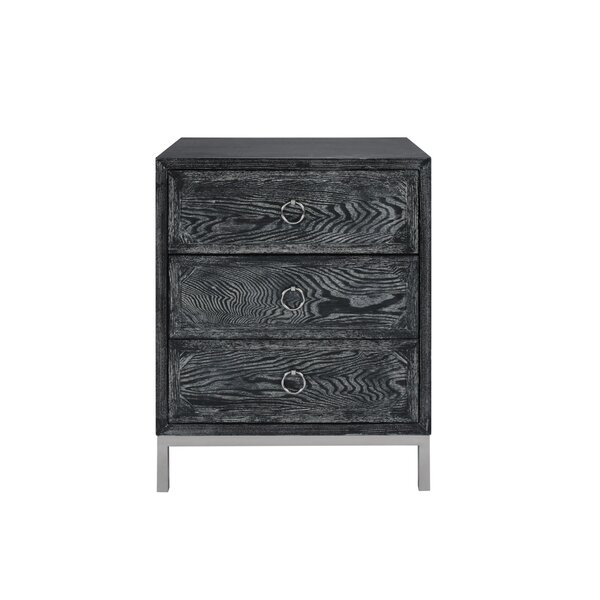 3 Drawer End Table by Worlds Away