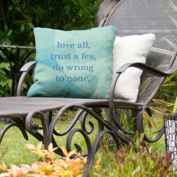 Do No Wrong Indoor/Outdoor Throw Pillow