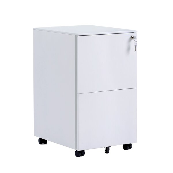 Elianna 2 Drawer Mobile Vertical Filing Cabinet